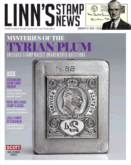 Linn's Stamp News Monthly Cover - 1/21/2019