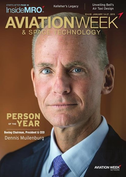 Aviation Week & Space Technology Cover - 1/14/2019