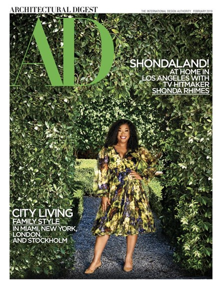 Architectural Digest Cover - 2/1/2019