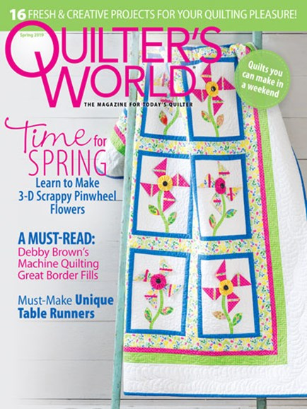 Quilter's World Cover - 3/1/2019