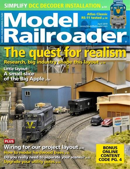 Model Railroader Cover - 4/1/2019