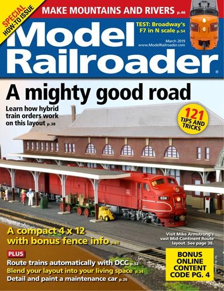 Model Railroader Cover - 3/1/2019