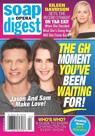 Soap Opera Digest Cover - 1/28/2019