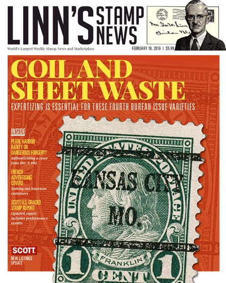 Linn's Stamp News Monthly Cover - 2/18/2019