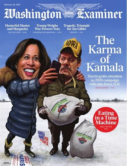 Washington Examiner Cover - 2/26/2019