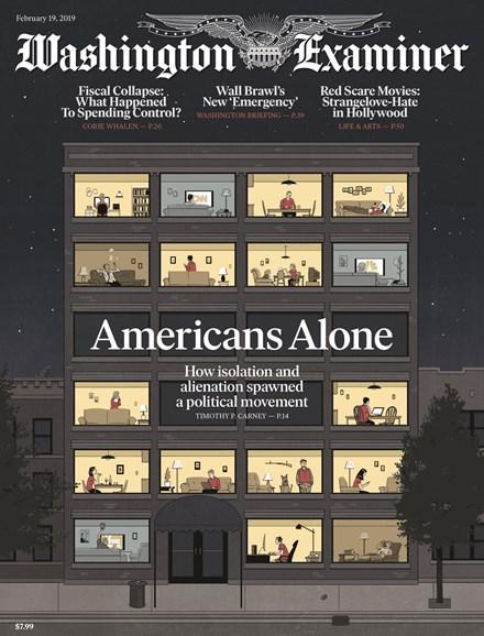 Washington Examiner Cover - 2/19/2019