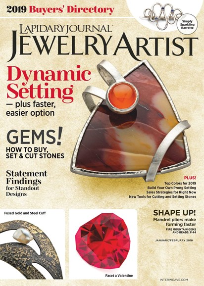 Lapidary Journal Jewelry Artist Cover - 1/1/2019