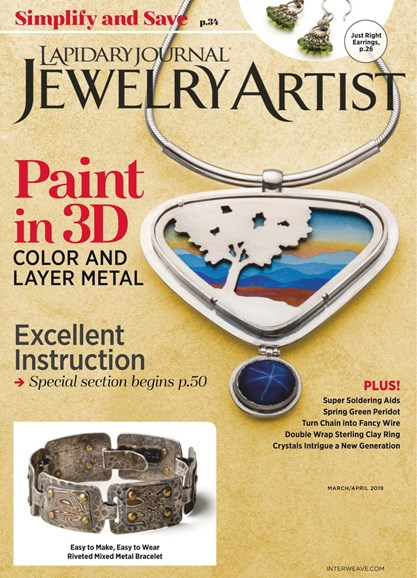 Lapidary Journal Jewelry Artist Cover - 3/1/2019