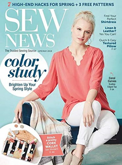 Sew News Cover - 4/1/2019