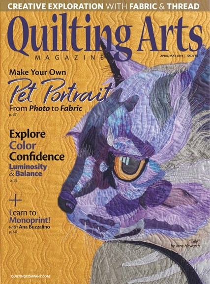 Quilting Arts Cover - 4/1/2019