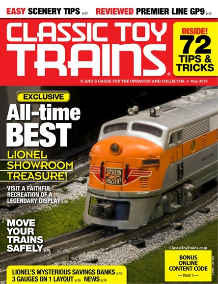 Classic Toy Trains Cover - 5/1/2019
