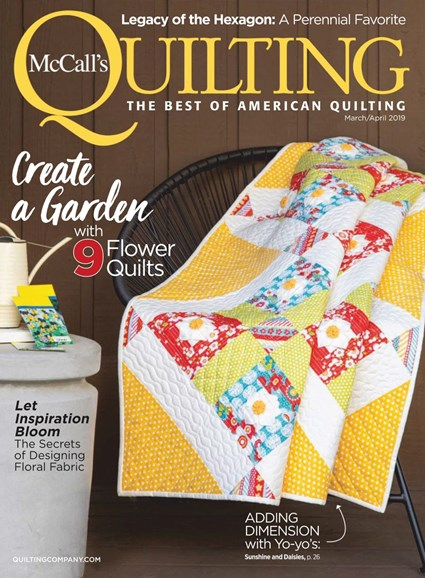 McCall's Quilting Cover - 3/1/2019