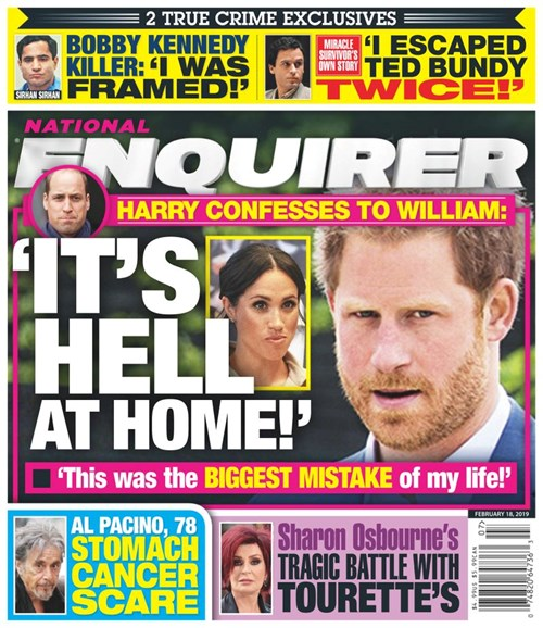 National Enquirer Cover - 2/18/2019