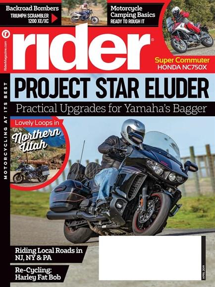 Rider Cover - 4/1/2019