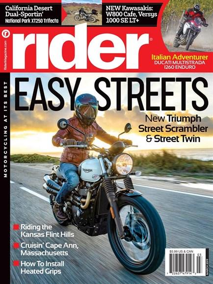 Rider Cover - 3/1/2019