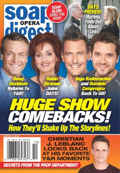 Soap Opera Digest Cover - 3/11/2019
