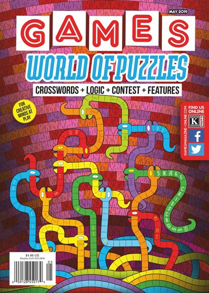 Games World of Puzzles Cover - 5/1/2019
