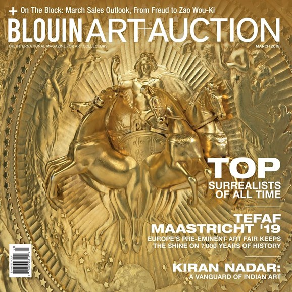 Blouin Art & Auction Cover - 3/1/2019