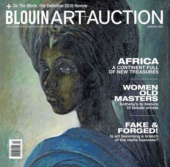 Blouin Art & Auction Cover - 1/1/2019