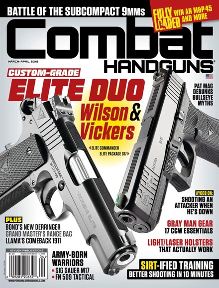 Combat Handguns Cover - 3/1/2019