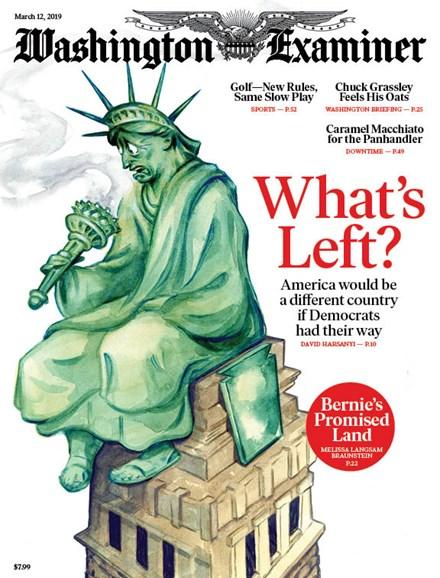 Washington Examiner Cover - 3/12/2019