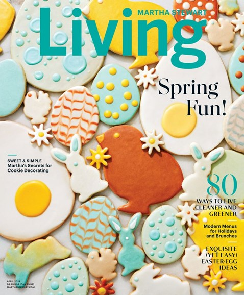 Martha Stewart Living Cover - 4/1/2019