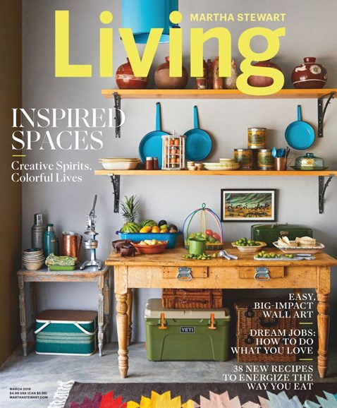 Martha Stewart Living Cover - 3/1/2019