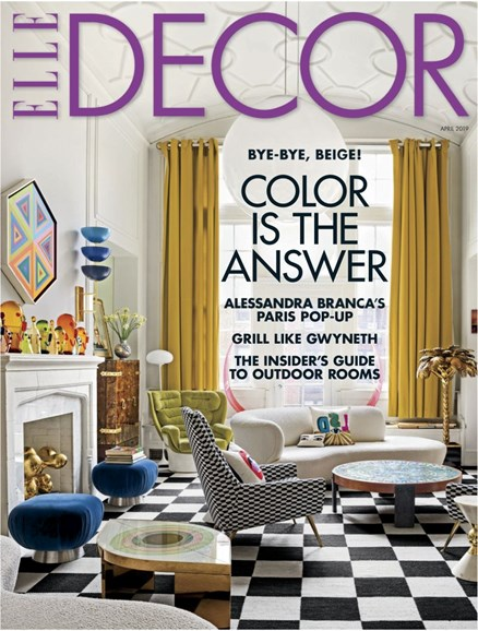 ELLE DECOR Cover - 4/1/2019