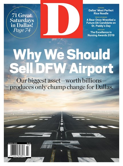 D Magazine Cover - 3/1/2019