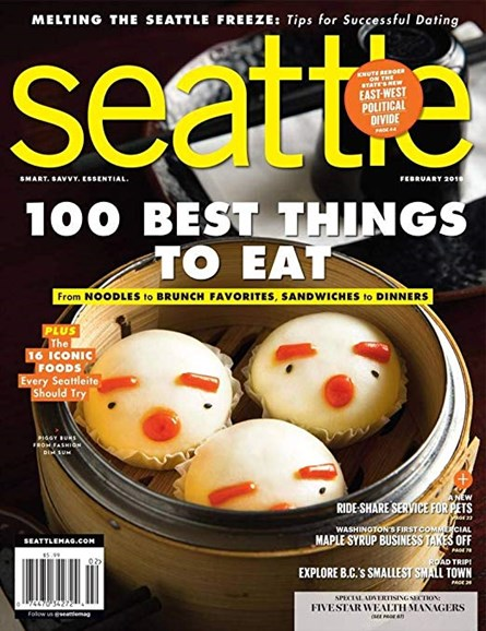Seattle Magazine Cover - 2/1/2019