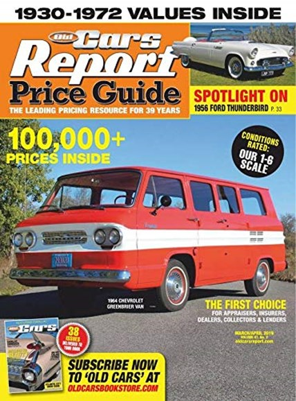 Old Cars Report Price Guide Cover - 3/1/2019
