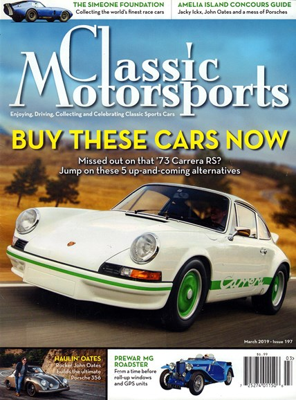 Classic Motorsports Cover - 3/1/2019