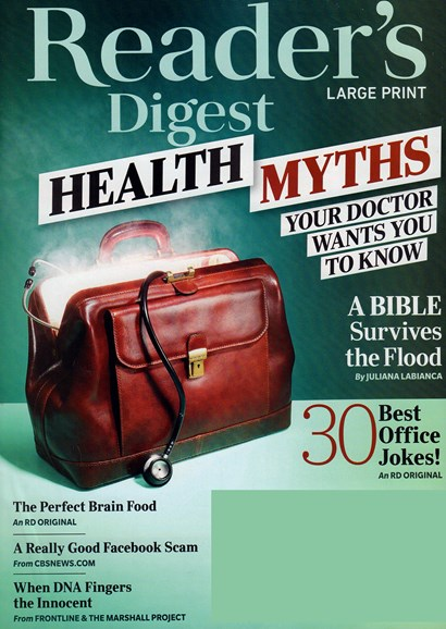 Reader's Digest - Large Print Edition Cover - 3/1/2019