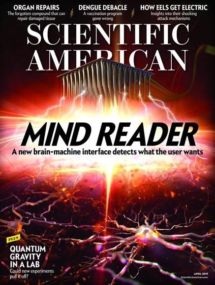 Scientific American Cover - 4/1/2019