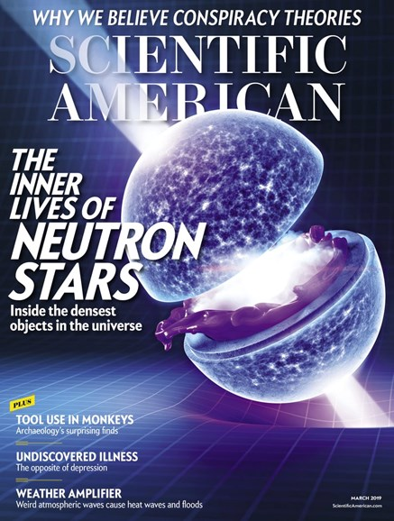 Scientific American Cover - 3/1/2019