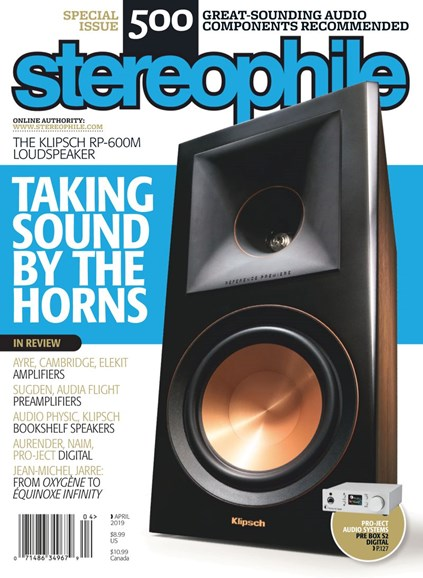 Stereophile Cover - 4/1/2019