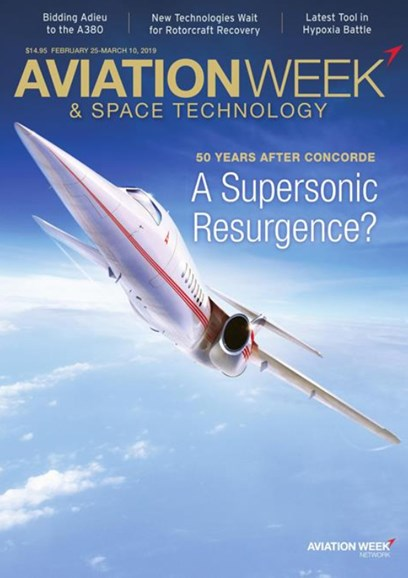 Aviation Week & Space Technology Cover - 2/25/2019