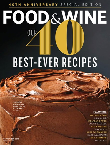 Food & Wine Cover - 9/1/2018
