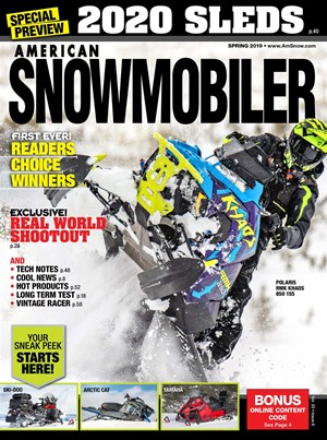 American Snowmobiler Magazine | 3/2019 Cover
