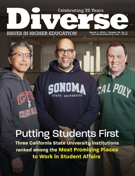 Diverse: Issues In Higher Education Cover - 3/7/2019