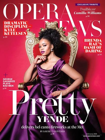 Opera News Cover - 2/1/2019