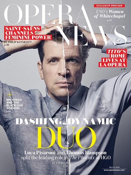 Opera News Cover - 3/1/2019