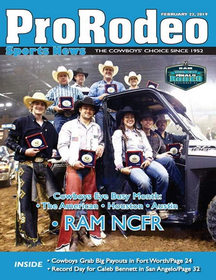 Pro Rodeo Sports News Cover - 2/22/2019