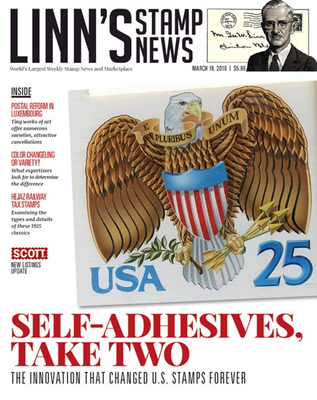 Linn's Stamp News Weekly Cover - 3/18/2019