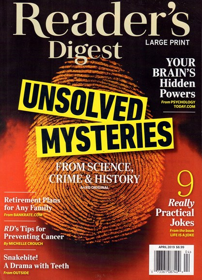 Reader's Digest - Large Print Edition Cover - 4/1/2019