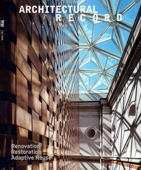 Architectural Record Cover - 2/1/2019