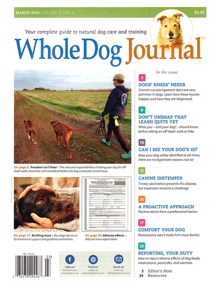 Whole Dog Journal Cover - 3/1/2019