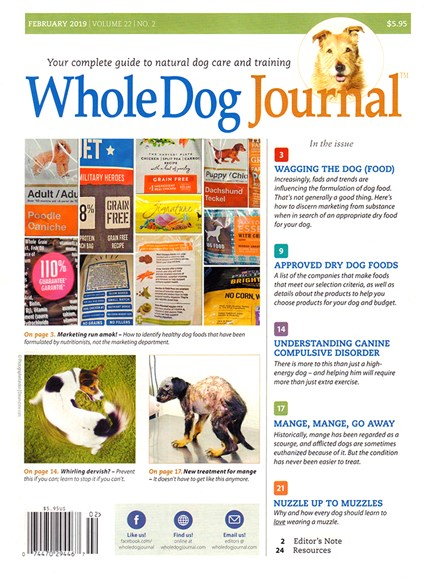 Whole Dog Journal Cover - 2/1/2019