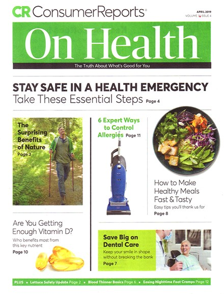 Consumer Reports On Health Cover - 4/1/2019