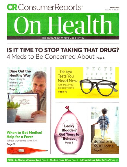 Consumer Reports On Health Cover - 3/1/2019